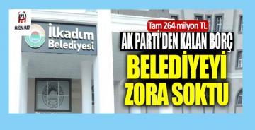 AK Parti'den kalan borç belediyeyi zora soktu
