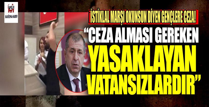 'İstiklal Marşı okunsun diyen gençlere disiplin cezası