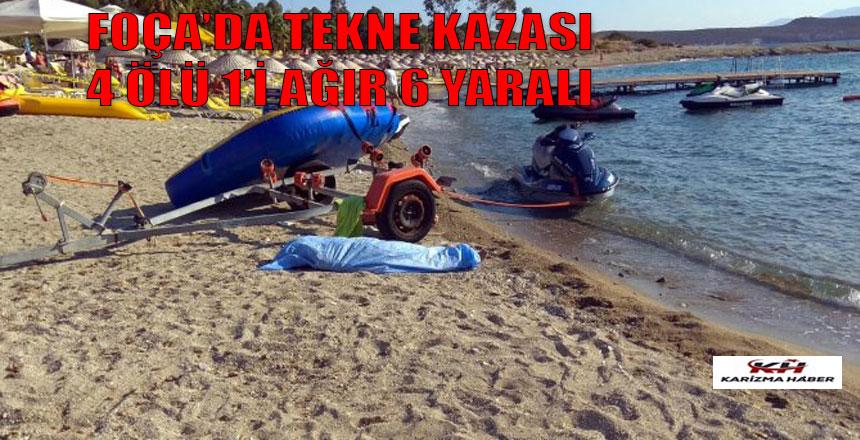 İzmir Foça'da tekne faciası 4 ölü