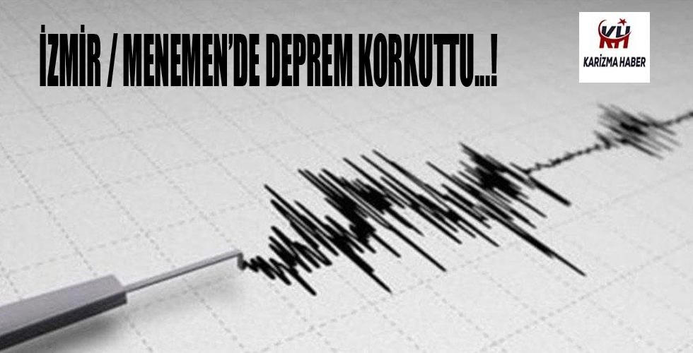 İzmir Menemen'de deprem