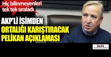 AKP'li isimden Pelikancılar hakkında ortalığı karıştıracak açıklama!