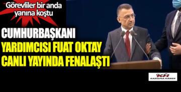 Cumhurbaşkanı Yardımcısı Fuat Oktay canlı yayında fenalaştı