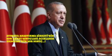 Avrasya Araştırma'nın son anketinde Erdoğan'a büyük şok….!