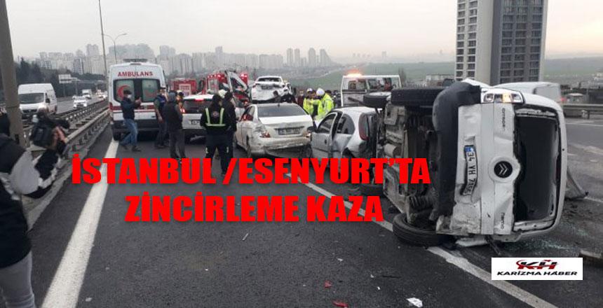 İstanbul'da 12 araç birbirine girdi