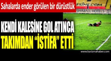 Junior Morais kendi kalesine gol atınca takımdan istifa etti…..
