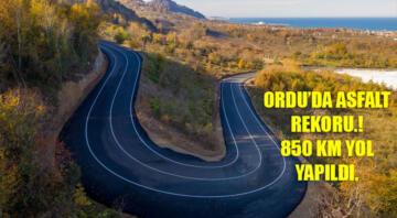 ORDU'DA ASFALT REKORU