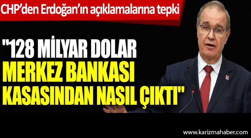 CHP'den Cumhurbaşkanı Erdoğan'ın döviz rezervleri açıklamalarına tepki