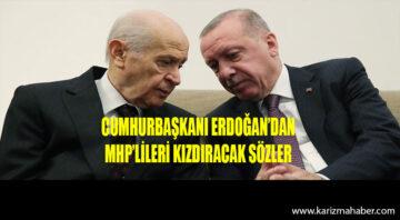 Cumhurbaşkanı Erdoğan'dan MHP'lileri kızdıracak sözler
