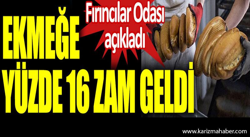Ankara'da ekmeğe yüzde 16 zam. Fırıncılar Odası açıkladı