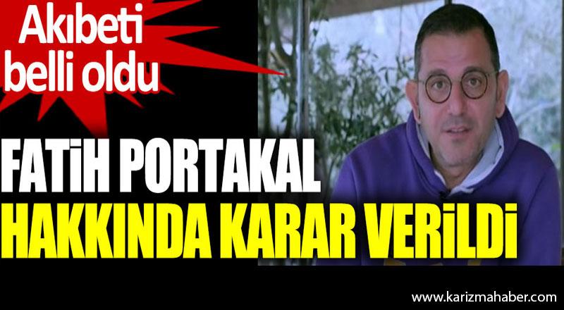 Fatih Portakal Hakkında Mahkeme Kararını Verdi.