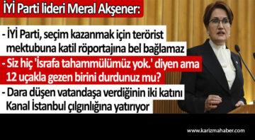 Meral Akşener'den önemli açıklamalar