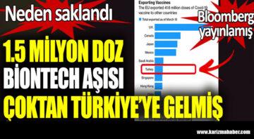 1.5 milyon doz Biontech aşısı çoktan Türkiye'ye gelmiş..Neden saklandı?