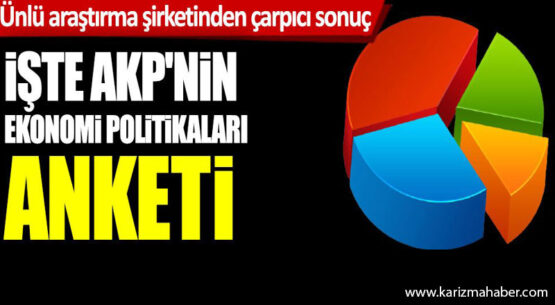 AREA Araştırma'dan çarpıcı AKP'nin ekonomi politikaları anketi