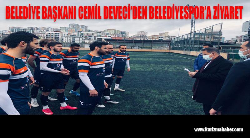 DEVECİ'DEN ATAKUM BELEDİYESPOR'U ZİYARET