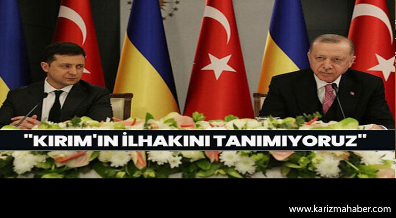 """Cumhurbaşkanı Erdoğan """"Kırım'ın ilhakını tanımıyoruz"""""""