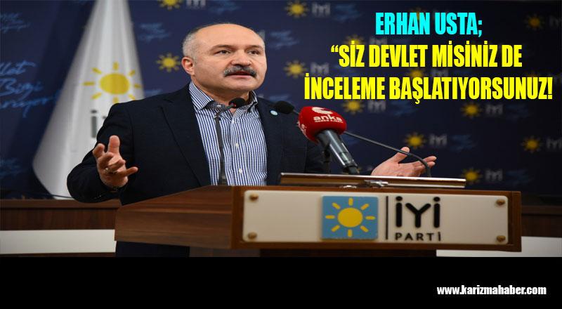 Erhan Usta, Kimse Bu İşin Üzerine Kapatmaya Çalışmasın!