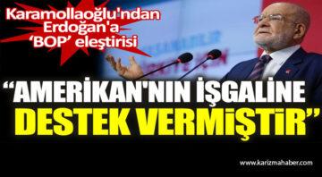 Temel Karamollaoğlu'ndan Erdoğan'a 'BOP' eleştirisi:
