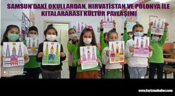 Samsun'daki okullardan kıtalararası kültür paylaşımı