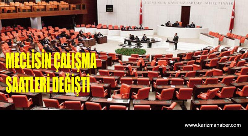 Meclis'te çalışma saatlerine yeni ayar
