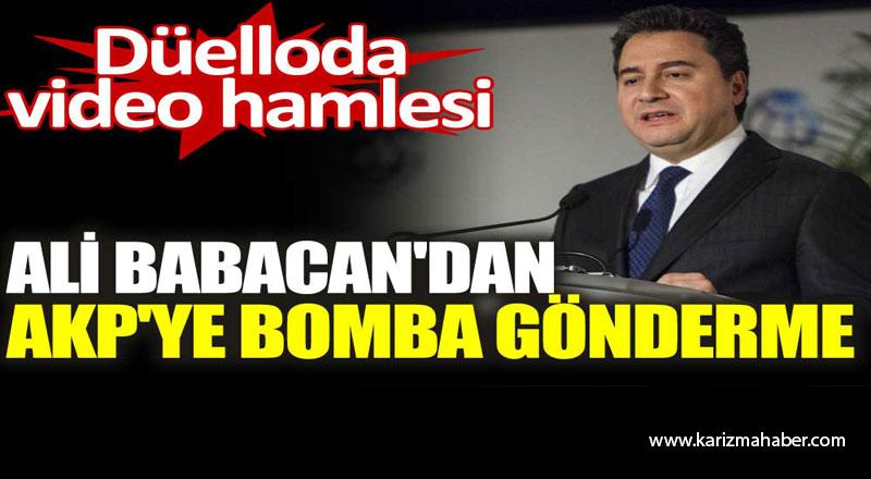 Ali Babacan'dan AKP'ye bomba gönderme. Düelloda video hamlesi