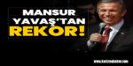 Mansur Yavaş'tan rekor!