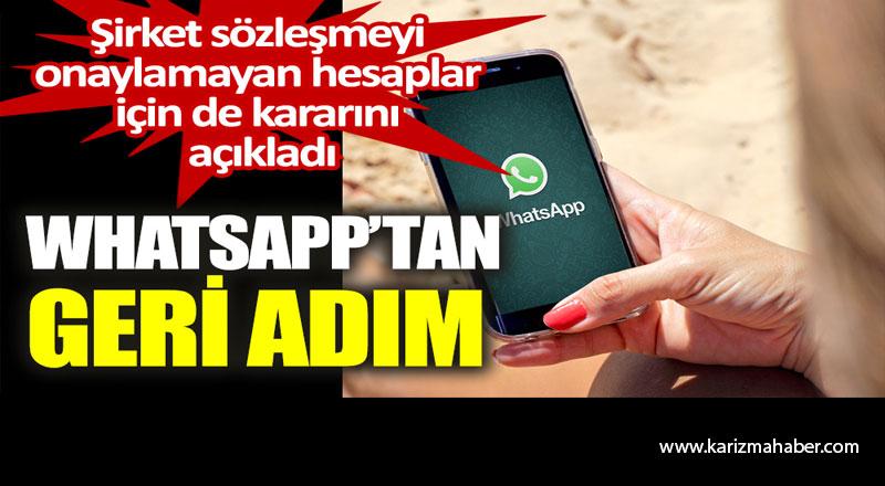 WhatsApp'tan geri adım. Şirket sözleşmeyi onaylamayan hesaplar için de kararını açıkladı