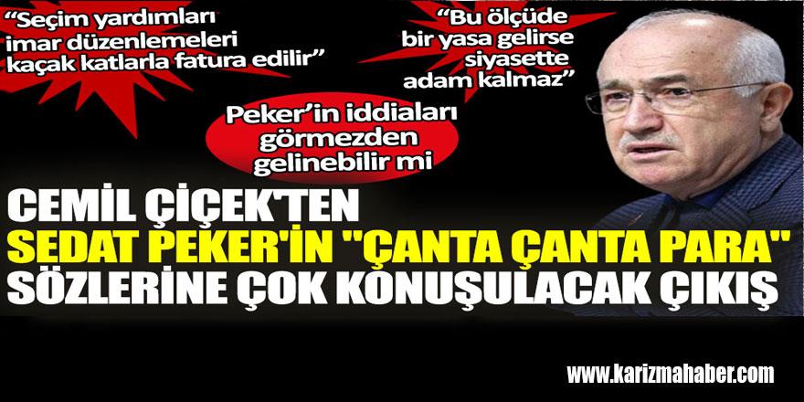 AKP'li Cemil Çiçek'ten Peker'in iddiaları için manidar açıklama!