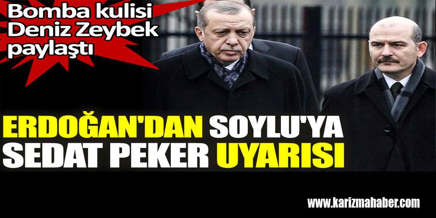 Erdoğan'dan Soylu'ya Sedat Peker uyarısı