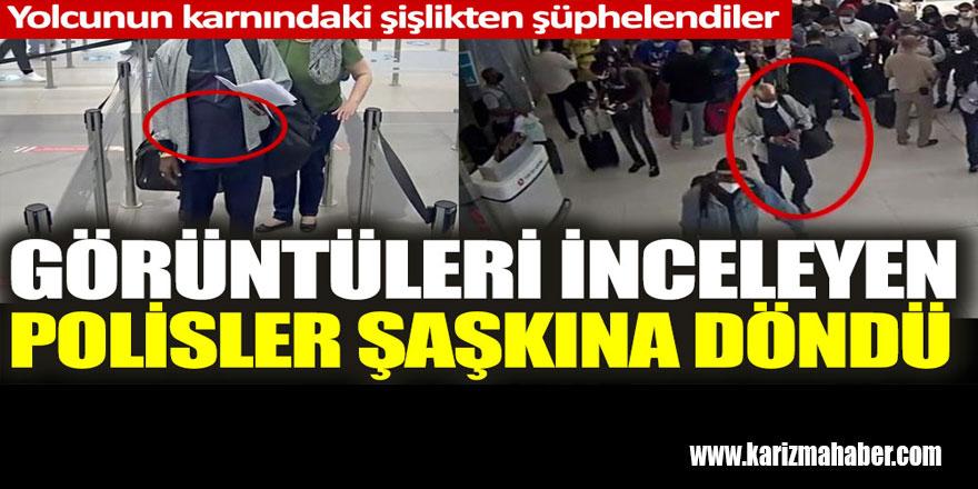 İstanbul Havalimanı'nda görüntüleri inceleyen polisler şaşkına döndü