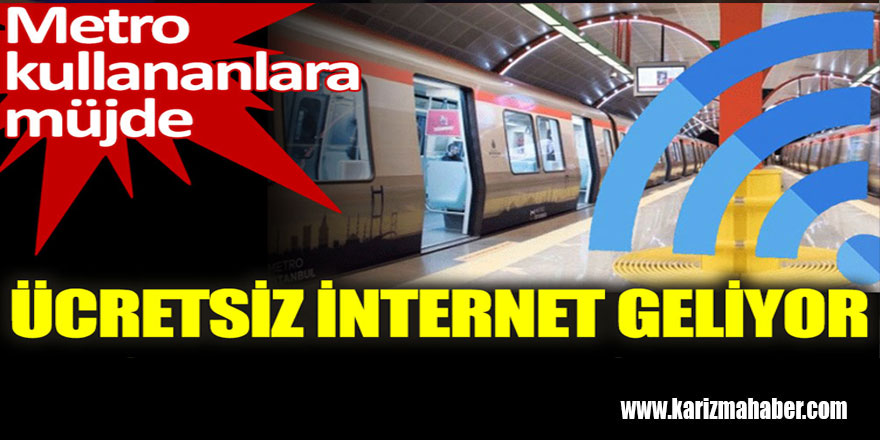 İstanbul'da metrolara ücretsiz internet geliyor