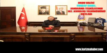 Vali Tuncay SONEL'in Jandarma Teşkilatının 182. Kuruluş Yıldönümü Mesajı