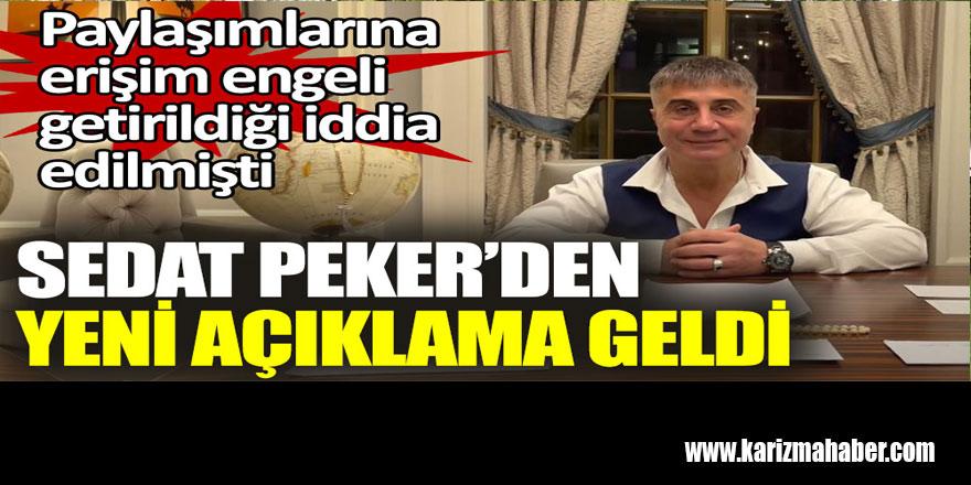 Sedat Peker'den yeni açıklama geldi