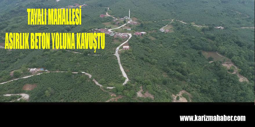 TAYALI'DA KONFORLU YOL SEVİNCİ