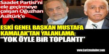 SP'ni ele geçirmeye çalışan Oğuzhan Asiltürk'e Mustafa Kamalak'tan cevap!