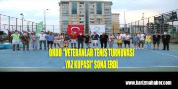 """Ordu,""""2. Veteran Tenis Turnuvası Yaz Kupası"""" Sona Erdi"""