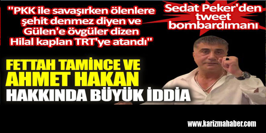 Fettah Tamince ve Ahmet Hakan hakkında büyük iddia.