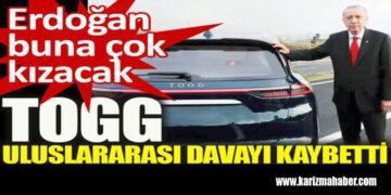 Yerli otomobil TOGG uluslararası davayı kaybetti