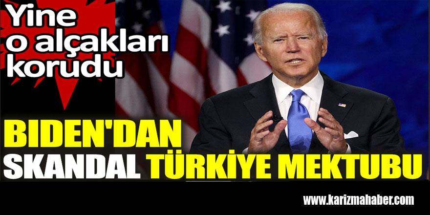 Biden'dan skandal Türkiye mektubu