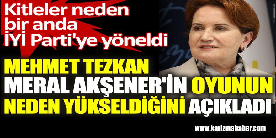 Mehmet Tezkan Meral Akşener'in oyunun neden yükseldiğini açıkladı