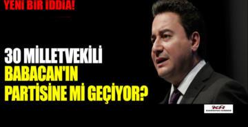 Ak Parti'den 30 milletvekilinin Ali Babacan'ın partisine geçeceği iddia ediliyor.
