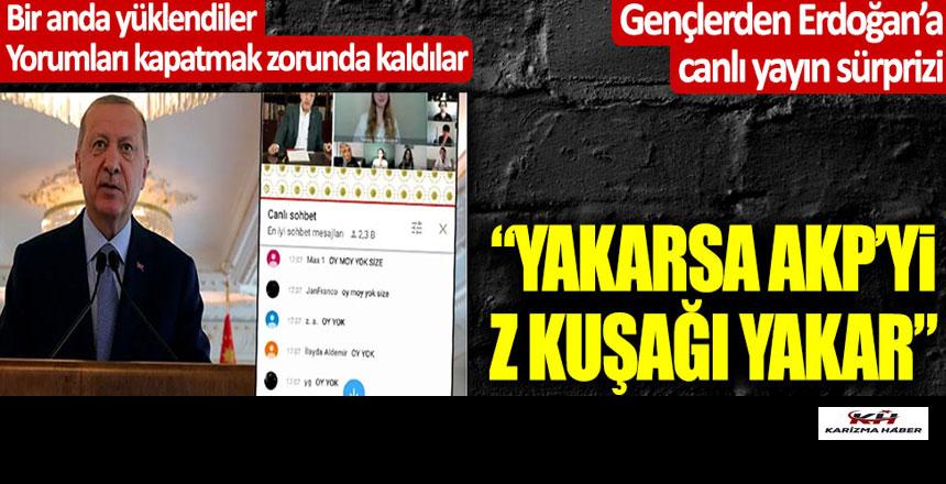 Z kuşağından Tayyip Erdoğan'a canlı yayın sürprizi