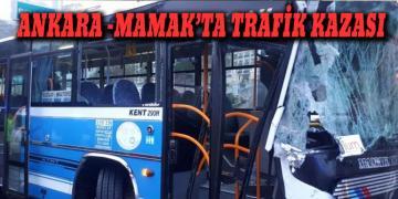Ankara'da Trafik Kazası!