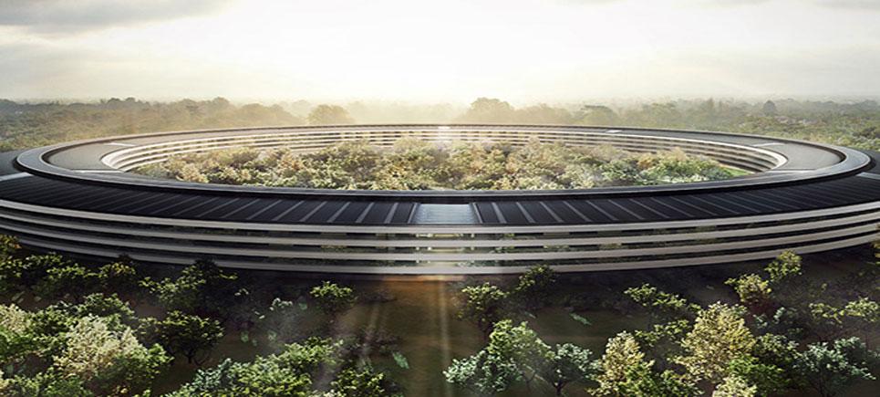 Apple'ın uzay üssünü andıran yeni binası hızla tamamlanıyor
