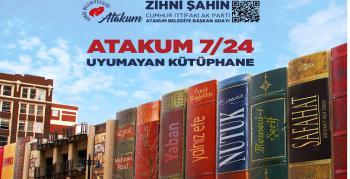 Zihni Şahin'den Atakum için bir proje daha'7/24 UYUMAYAN KÜTÜPHANE!..'