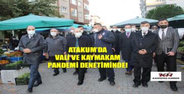 Atakum'da cuma pazarına pandemi denetimi