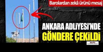 Ankara Adliyesi'nde göndere avukat cübbesi çekildi