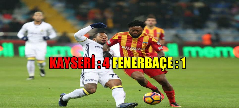 Fenerbahçe Süper Lig'de 19. Haftada En Ağır Yenilgisini Aldı