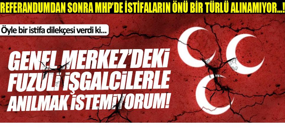 Ömer Yeşilyurt'ta MHP'den istifa etti
