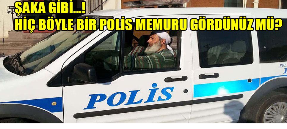 Bayramiç'te sarıklı- sakallı polisi görenler şaşkına döndü…!
