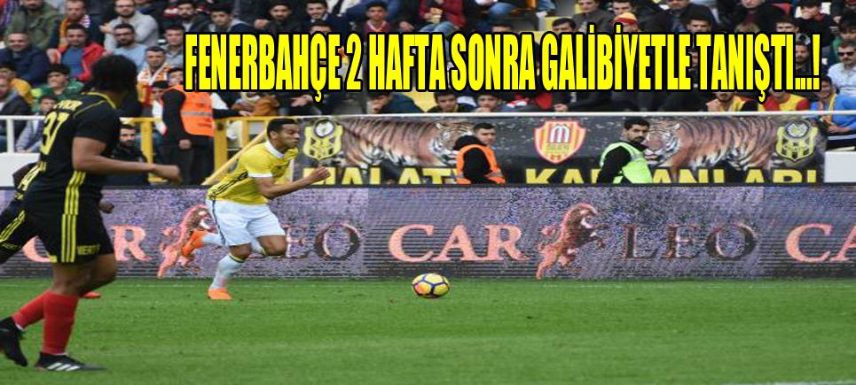 Yeni Malatyaspor: 0 Fenerbahçe: 2
